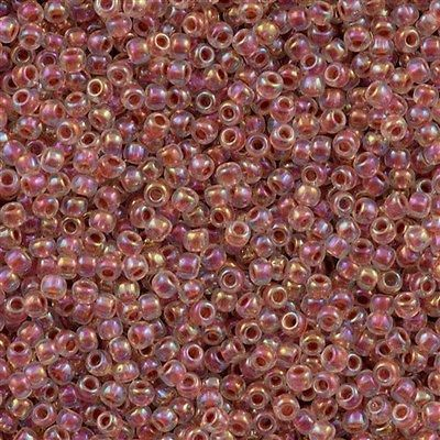 Toho Round Seed Beads 11/0 Inside Color Lined Sandstone AB 15g 11-784