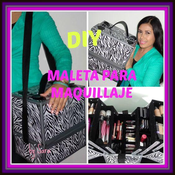 DIY maletin para maquillaje con cajas de zapatos