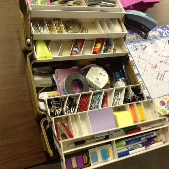 teacher tacklebox use an old or new tackle box to create
