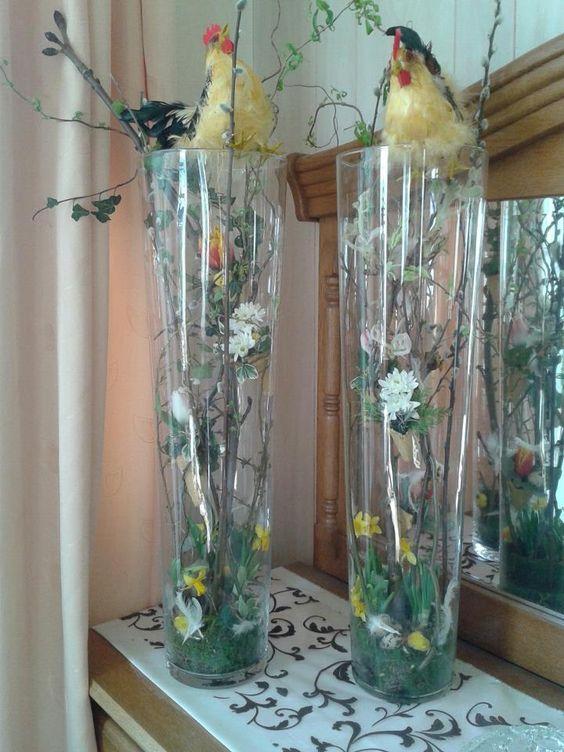 Paasstuk in hoge vaas decoratie pinterest for Decoratie in vaas