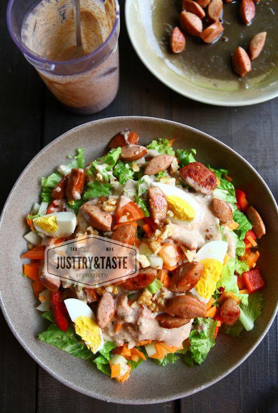 Resep Creamy Salad Dressing Hidangan Penutup Salad Masakan