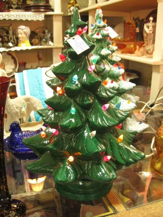Ceramic light up Christmas tree from Vendor 483 in booth 173. Priced at $35.00. Available at The Brass Armadillo Antique Mall - WheatRidge, CO! (303) 403-1677.