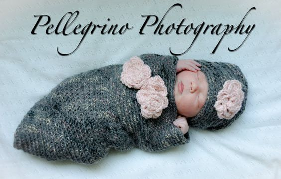 Newborn BABY COCOON Set 2 Piece Hat and by Babymommaboutique, $55.00