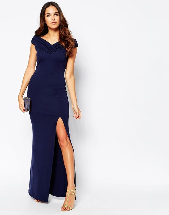 Jessica Wright Sarah Off Shoulder Maxi Dress
