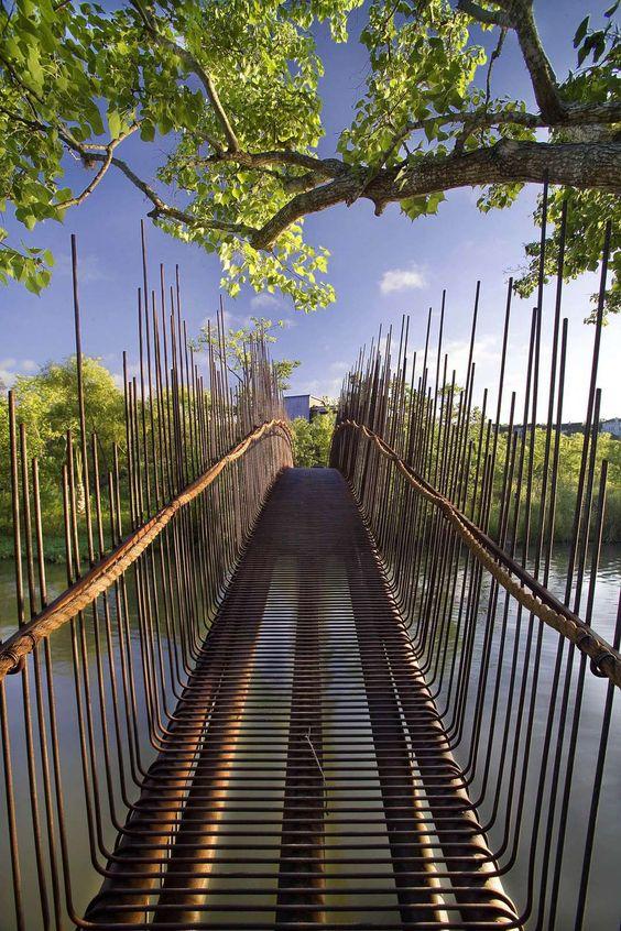 Pedestrian Bridge, by Miró Rivera Architects, Austin, Texas