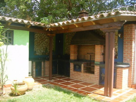 Dise o y arquitectura de parrilleros buscar con google for Disenos para patios