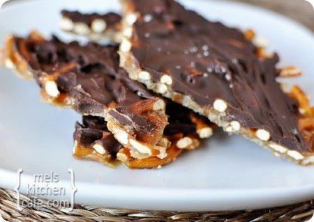 Salted Chocolate Toffee Pretzel Bark
