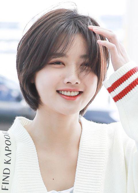 Kim Yoo Jung Gaya Rambut Wajah Bulat Gaya Rambut Pendek Gaya Rambut