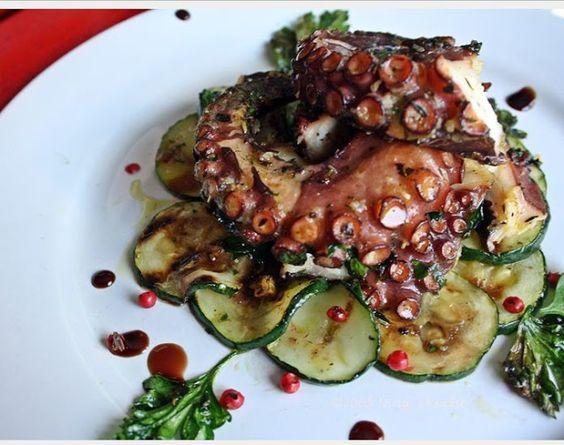 Kochenmitning@home: Gegrillter Pulpo a la Ning