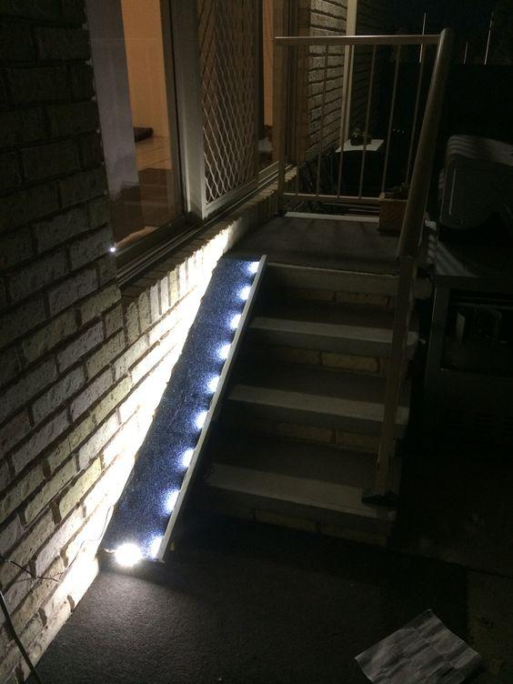 dog ramp with automatic led lighting diy house stuff. Black Bedroom Furniture Sets. Home Design Ideas