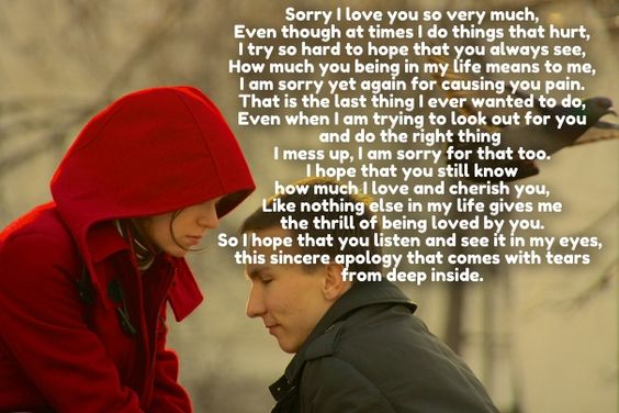 Im sorry, Love poem for her and Love poems on Pinterest