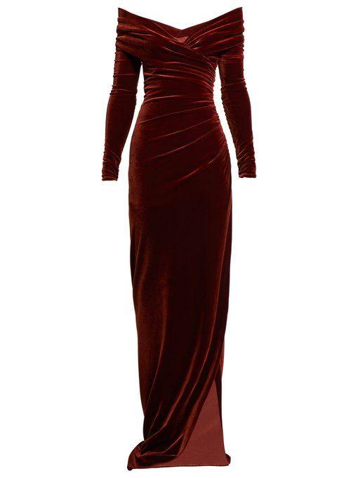 Alexandre Vauthier Womenswear Shop Online At Matchesfashion Com Uk Velvet Dress Long Elegant Dresses For Women Velvet Dress