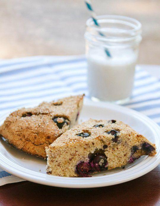 Grain-Free Lemon & Blueberry Scones | Recette | Scones aux bleuets ...