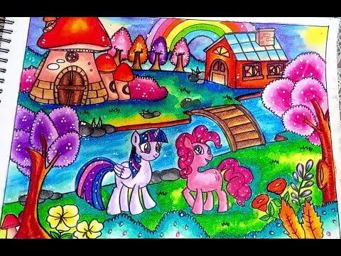 Cara Menggambar Dan Mewarnai My Little Pony Dengan Gradasi Warna Oil Pastel Crayon Youtube Cara Menggambar Seni Menggambar Gambar