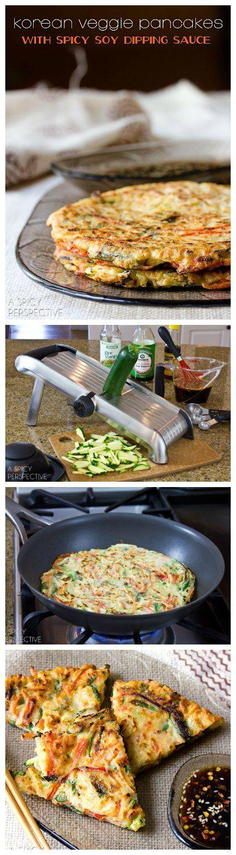Crujiente Veggie coreana Pancake Receta: pajeon