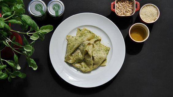 Mandilli de sea - Frische Pasta mit eingearbeitetem Pesto im Teig -