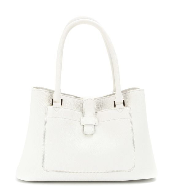 "Loro Piana - Bellevue textured-leather tote  - Fine Italian craftsmanship and Loro Piana go hand-in-hand. A luxurious take on the shopper style, this off-white ""Bellevue"" tote is made for everyday use. The zipped internal compartment will safely store your technology - and the roomy interior ensures there's space for the rest of your essentials too.  seen @ www.mytheresa.com"