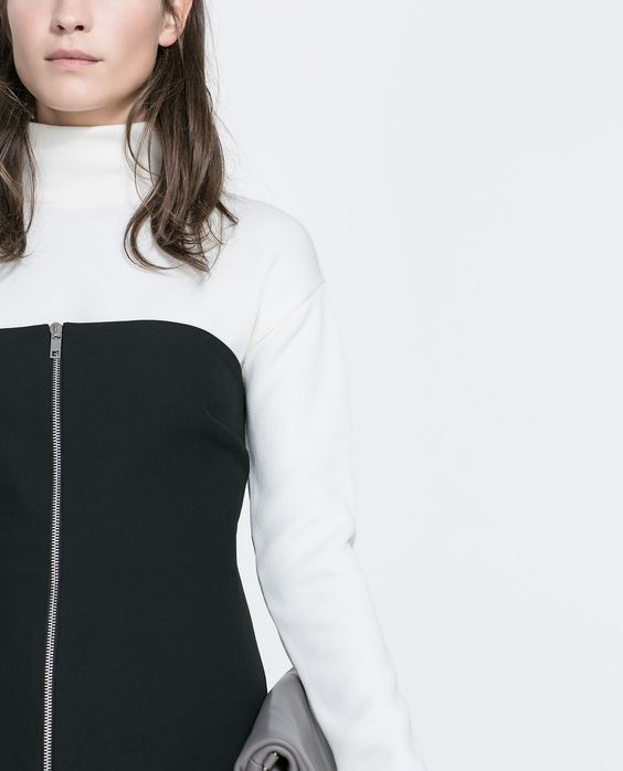 ZARA - WOMAN - DRESS WITH ZIP AT THE FRONT