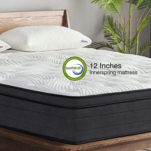 New Sweetnight King Mattress In A Box 12 Inch Plush Pillow Top Hybrid Mattress Gel Memory Foam For Sleep Cool Motion I In 2020 Mattress King Mattress Plush Pillows