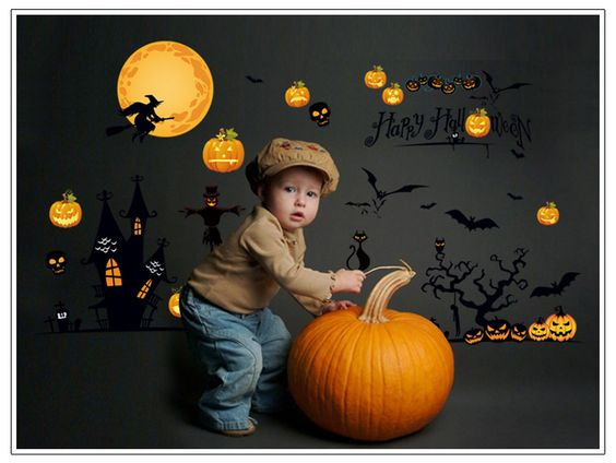 Lager Size 60*90cm Removable Creative PVC Halloween Party decorations for kids home decals | Price: US $8.99 | http://www.bestali.com/goto/2012098264/10