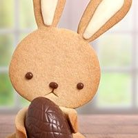 Conejito de Pascua (galletas decoradas con chocolate)