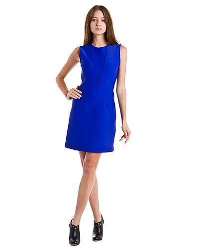 Cynthia Rowley Bright Blue Bonded Scuba Dress