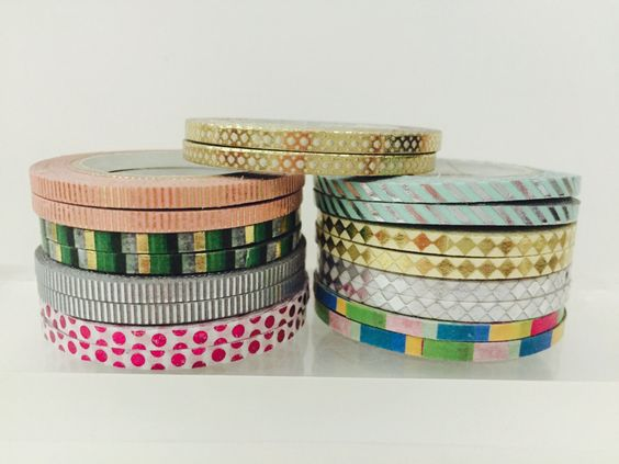 Foil Thinner Width Washi Tape in 9 Patterns by GoatGirlMH on Etsy
