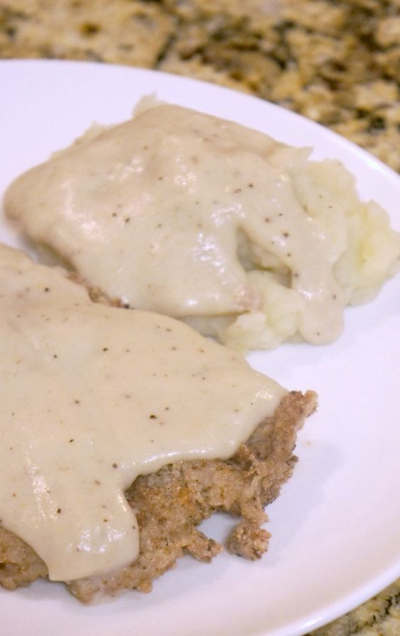 Gluten-free Country Fried Steak with Mashed Potatoes & Gravy