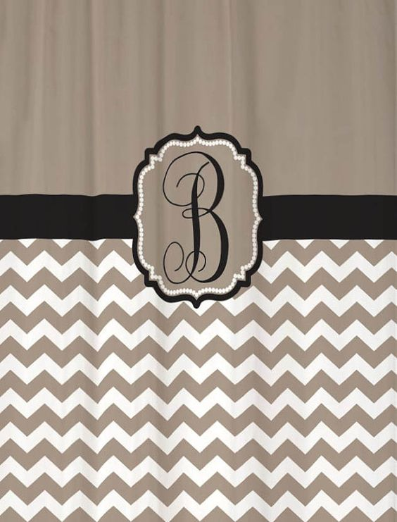 Shower Curtain Chevron Fabric YOU CHOOSE COLORS 70, 74, 78, 84, 88 ...