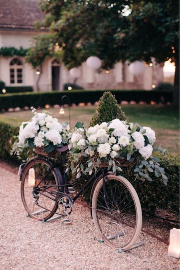 how about a vintage bike for your ceremony entrance...or even to decorate your wedding reception- it will make for great photographs.