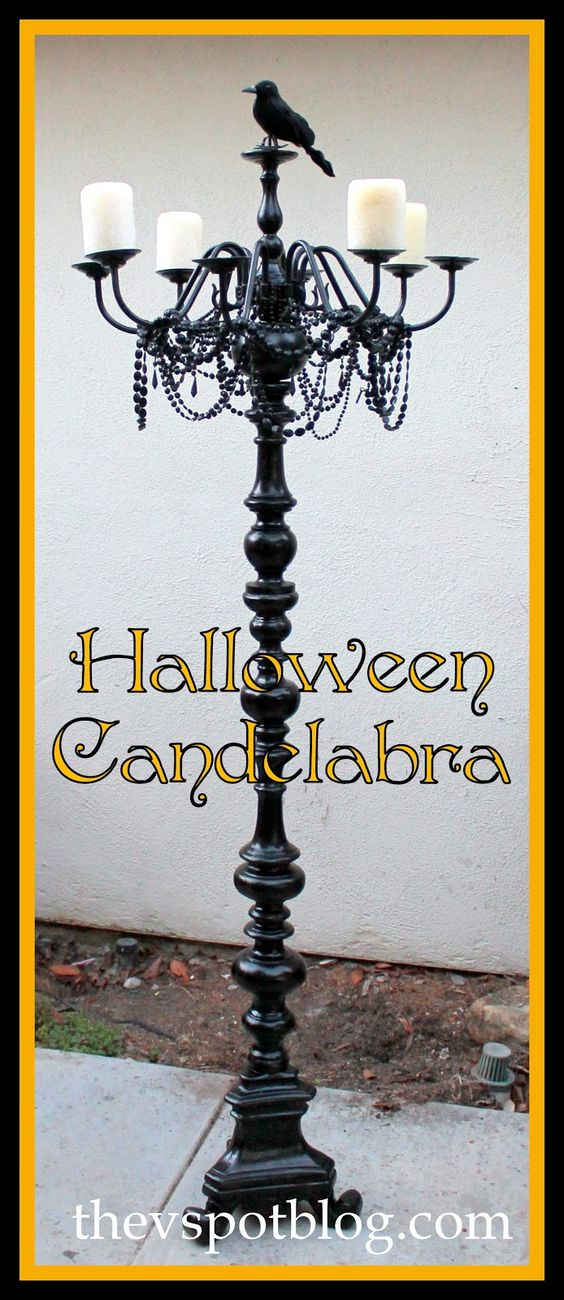 The V Spot: A floor Candelabra. Instead of Halloween make for home ...