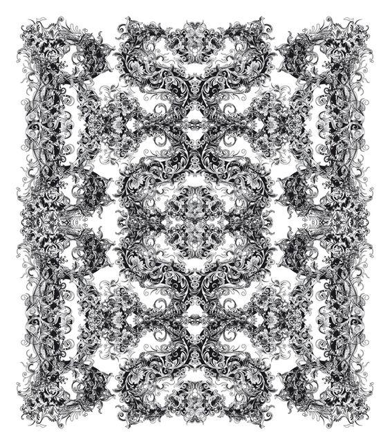 """""""Brushwood"""" Pattern Detail Typeface by Riccardo Sabatini"""