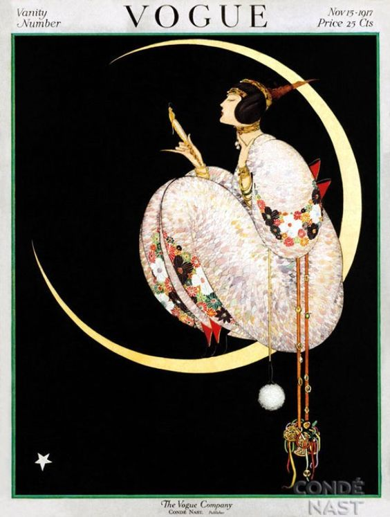 Great collected gathering of vintage and antique Vogue covers, 1910-50: