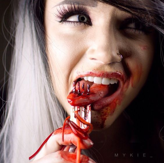 Follow @mykie_on instagram for awesome halloween & sfx makeup --- Fake Tongue!