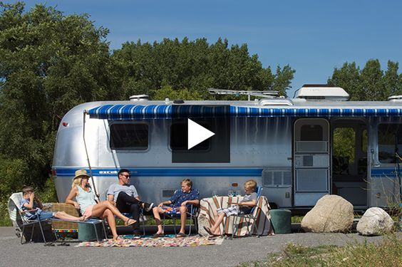 Lynda Reeves takes a tour of a bright  colorful airstream trailer. Get small space tips, storage ideas for small spaces and more!
