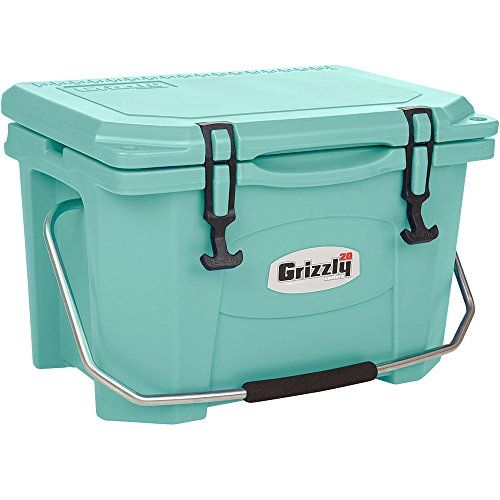 Grizzly 20 Quart Sea Foam Green Cooler See This Great Product This Is An Affiliate Link Coolersandaccessories Yeti Cooler Cooler Grizzly