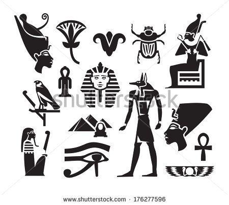 египетски символи на роялти |  Египетски символи безплатно вектор