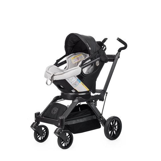 This Infant Travel System includes an Infant Car Seat, base, stroller frame and storage. Get the car seat and stroller with a twist today.