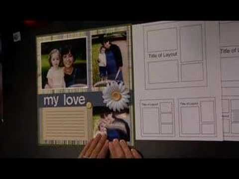 Scrapbooking with a template  Scrapbook LifeStyle Day 2 - Free Scrapbooking Show