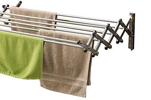 Ergonomic Folding Clothes Rack Durable Compact Stainless Steel