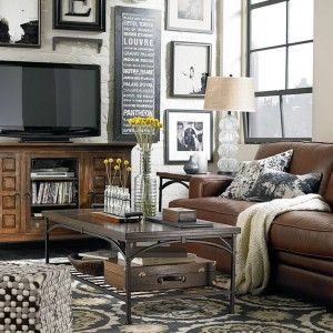 Best Brown Leather Couch With Neutral Grey Walls Google 400 x 300