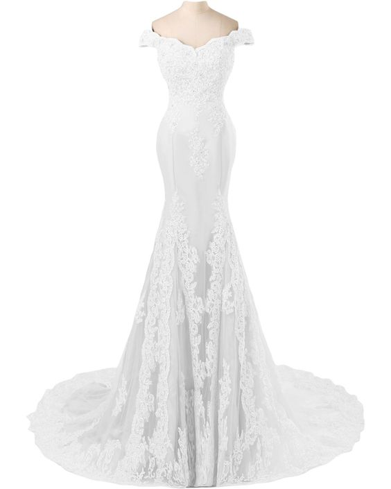 My favorite option so far:  TOSKANA BRAUT Abendmode Damen Mermaid Abendkleider Lang Spitze Tuell Braut Party Fest Ballkleider-32-Champagner: Amazon.de: Bekleidung