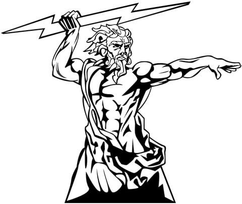 Zeus O Deus Do Olimpo Pagina Para Colorir Deuses Olimpicos