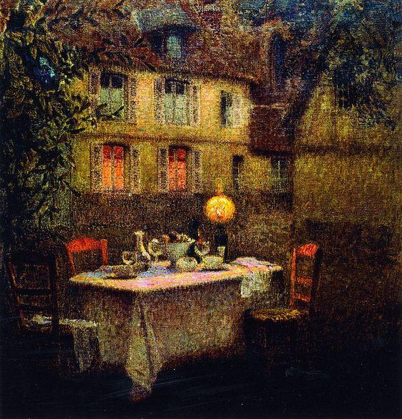 Henri Le Sidaner - The Table, Gerberoy: