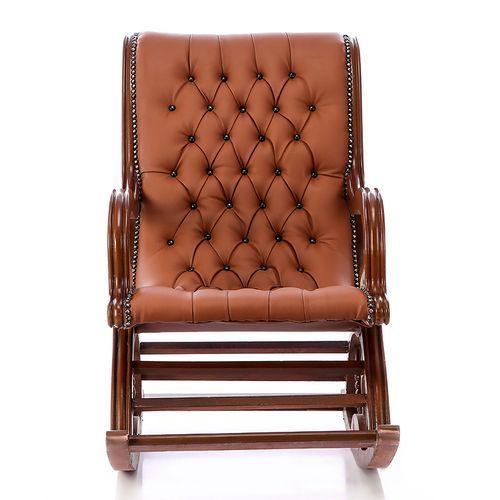 كرسي هزاز م نجد جلد 8211 بني Outdoor Chairs Furniture Home Living Room
