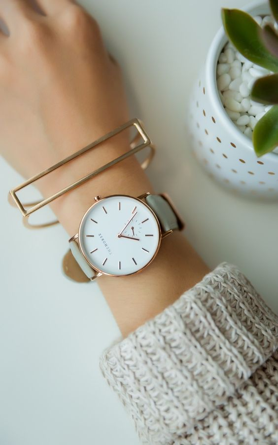 This grey watch is a classic timepiece. Tune-in to @FYI Style Unzipped to discover the story behind more classic trends.