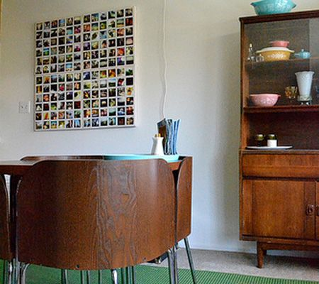 instagram photos printed and arranged on canvas