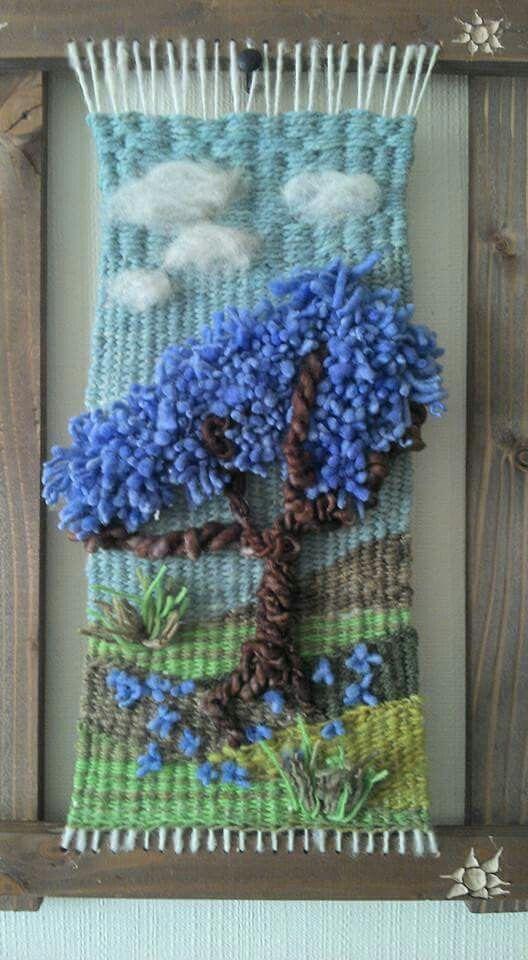 Resultado De Imagen Para Telar Decorativo Con Flores