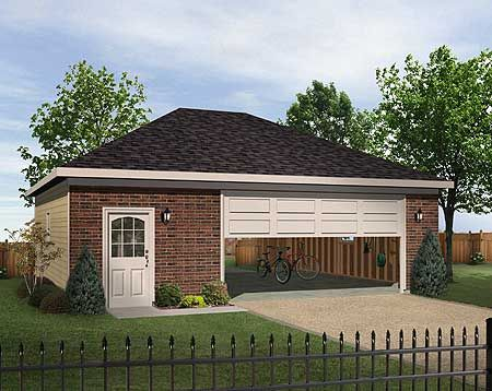 Plan 22056sl hip roofed drive thru garage house plans for House plans with drive through garage