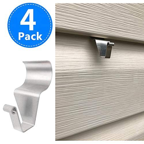 Vinyl Siding Hangers Heavy Duty Outdoor Light Wreath Pictures Hook For Hanging 4 Pack Christmasdecorideas Vinyl Siding Hooks Vinyl Siding Picture Hook